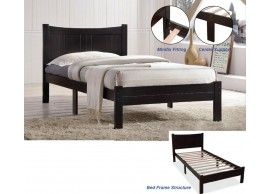 251091 Wooden Single Bed