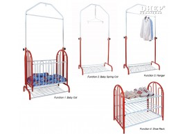 WH 400 Baby 4 Function Spring Cot