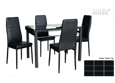 148102_140169 Glass Dining Set (1+4)