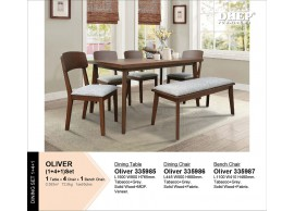 OLIVER 1+4+1 SEATER DINING SET
