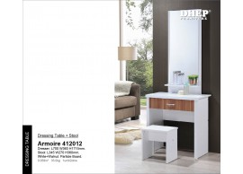 412012 Armoire Dressing Table + Stool