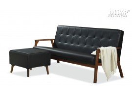 Kino 259819 3 Seater Sofa With Stool