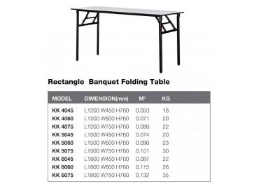 KK Rectangle Folding Table